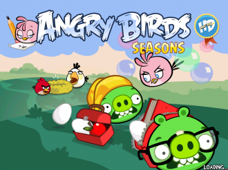 Angry Birds Seasons - Back to School: Экран загрузки