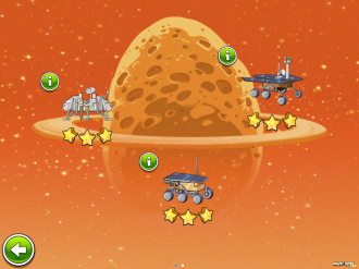 Angry Birds Space - Red Planet: Золотые Марсоходы