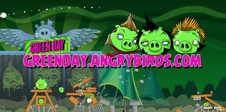 Вышла Angry Birds Green Day
