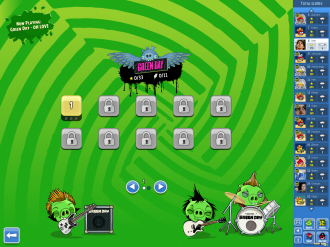 Angry Birds Facebook - Green Day: Выбор уровня