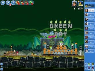 Angry Birds Facebook - Green Day: Золотая граната - уровень