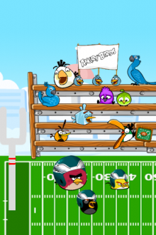 Angry Birds обои для iPhone - Американский Футбол - от Mr.Green