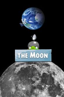 Angry Birds Space обои Луна от Mr.Green