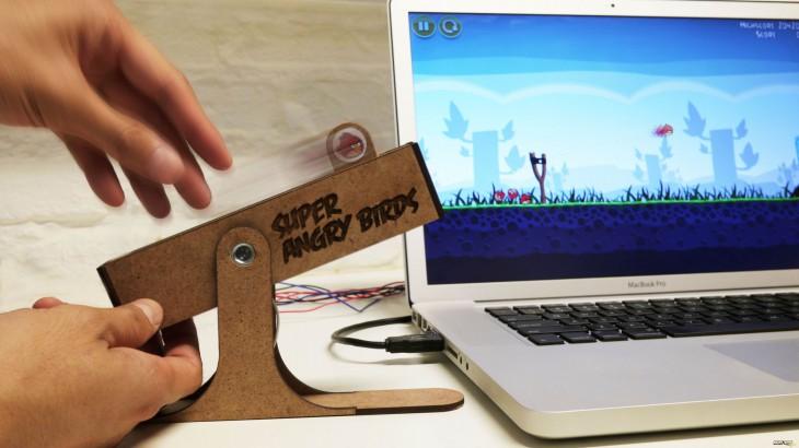Super Angry Birds - умная USB-рогатка для игры