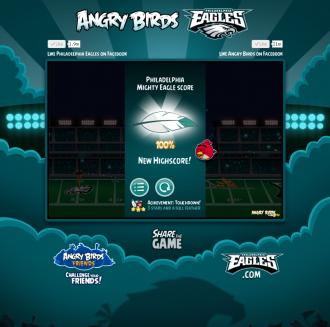 "Angry Birds Philagelphia Eagles: Достижение ""Гол"""