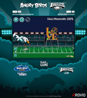 Angry Birds Philagelphia Eagles: Орёл в действии