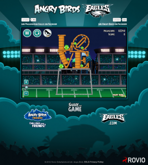 Angry Birds Philagelphia Eagles: Уровень at Cleveland