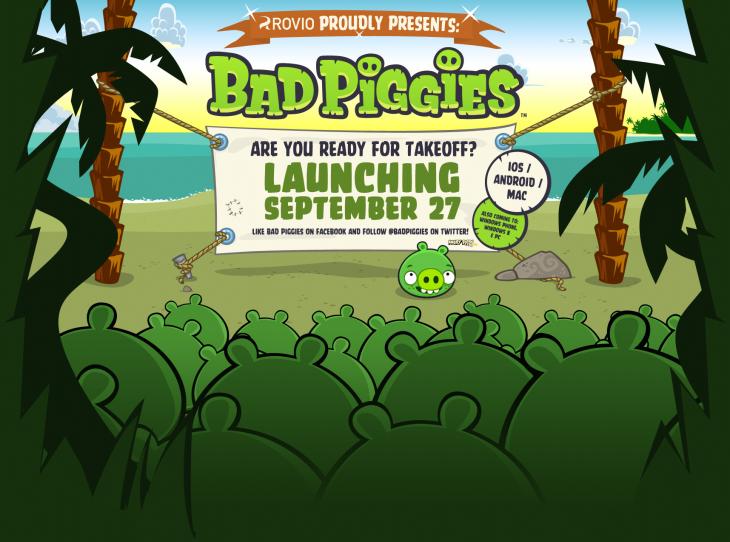 Анонс игры на www.badpiggies.com