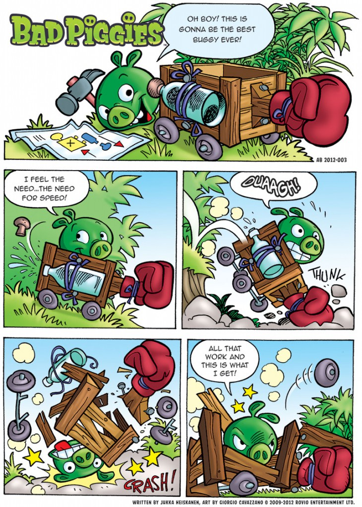 Комикс Bad Piggies: Часть 1