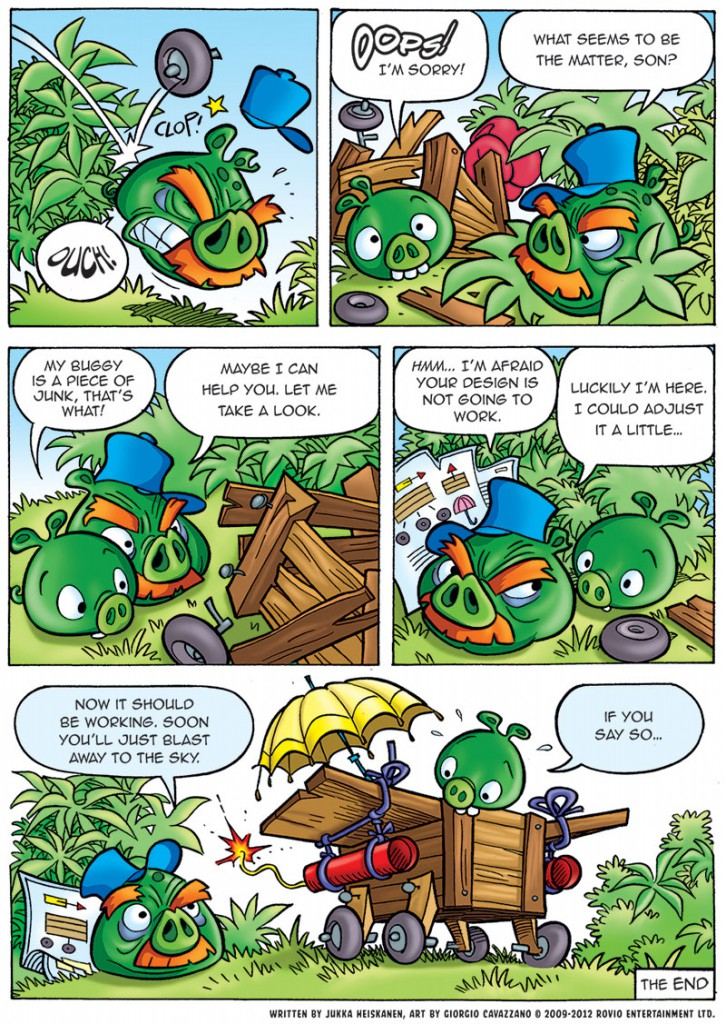 Комикс Bad Piggies: Часть 2