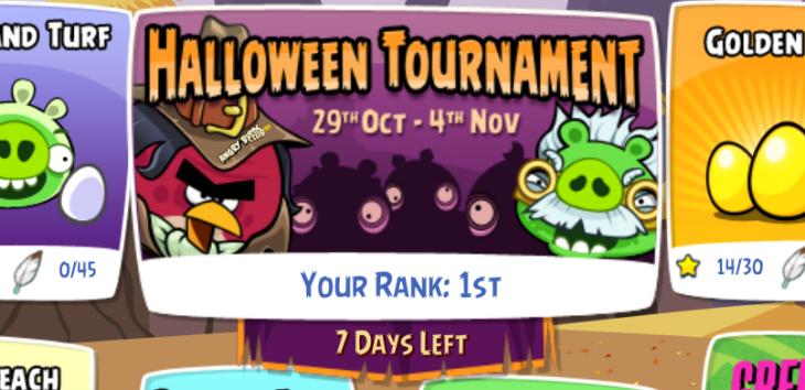 Турнир на Хэллоуин в Angry Birds Friends