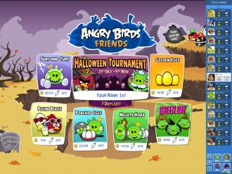 Angry Birds Friends - Главное меню