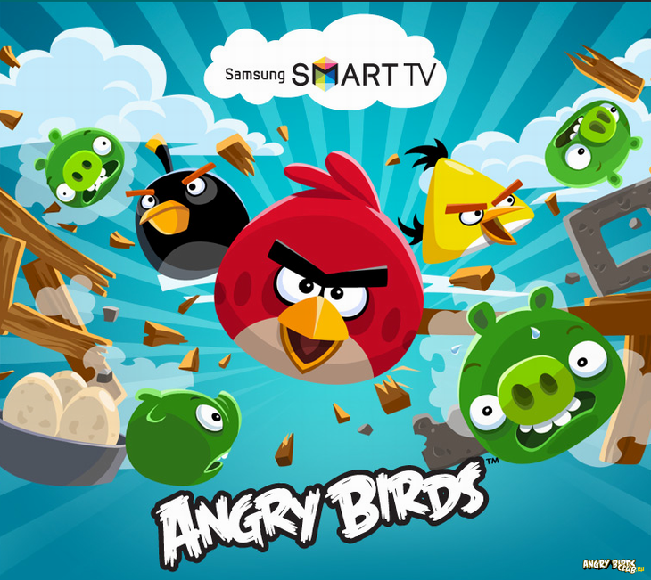 Чемпионат Angry Birds на Samsung Smart-TV
