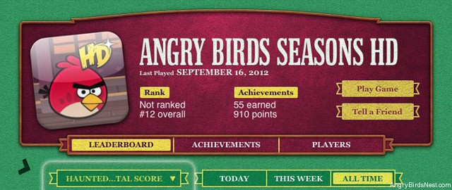 Angry Birds Seasons Haunted Hogs в Game Center для разработчиков