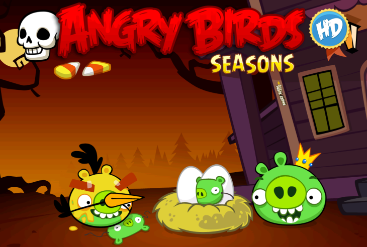 Вышла Angry Birds Seasons - Haunted Hogs