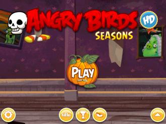 Angry Birds Seasons - Haunted Hogs: Меню