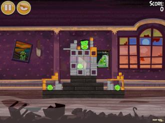 Angry Birds Seasons - Haunted Hogs: Уровень 1