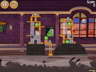 Angry Birds Seasons - Haunted Hogs: Уровень 2
