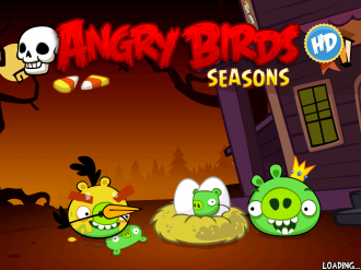 Angry Birds Seasons - Haunted Hogs: Загрузка