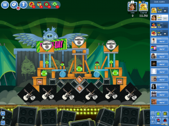 Angry Birds Friends Green Day - Уровень 11