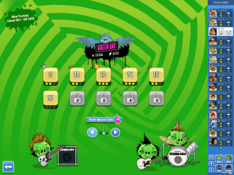 Angry Birds Friends Green Day - выбор уровня