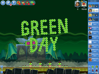 Angry Birds Friends Green Day - Золотая Граната 2
