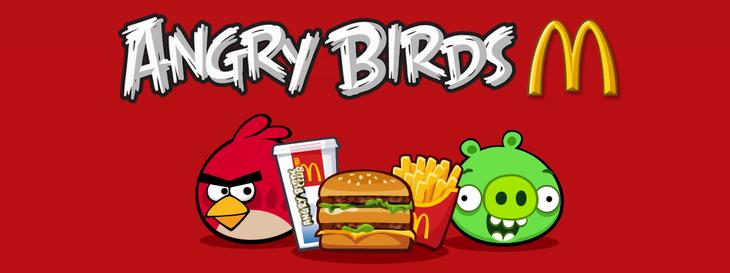 Новая мини-игра Angry Birds McDonald's
