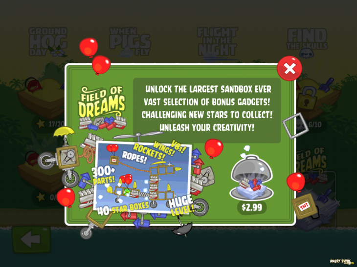Bad Piggies Flight in the Night - Купи Field of Dreams