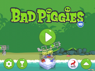 Bad Piggies - Flight in the Night: Меню
