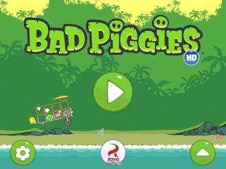 Bad Piggies - Главное меню