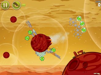 Angry Birds Space - Red Planet: Уровень 21
