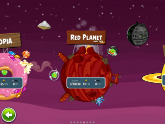 Angry Birds Space - Red Planet: Выбор эпизода