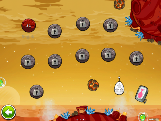 Angry Birds Space - Red Planet: Выбор уровня
