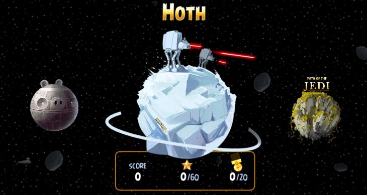 Планета Хот открылась в Angry Birds Star Wars