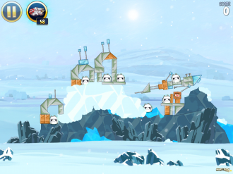 Angry Birds Star Wars - Hoth: Уровень 3-1