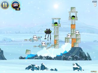 Angry Birds Star Wars - Hoth: Уровень 3-2