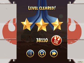 Angry Birds Star Wars: Победа! (3 звезды)