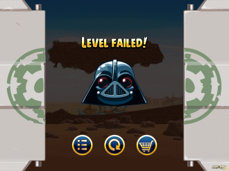 Angry Birds Star Wars: Поражение