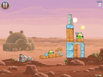 Angry Birds Star Wars: Уровень 1-2
