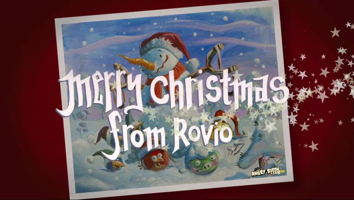 Рождественская песня Angry Birds Fly Me Home Tonight