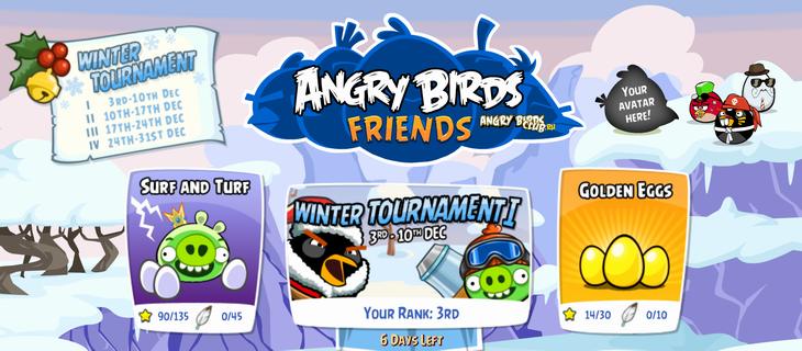 В Angry Birds Friends стартовал Большой Зимний Турнир