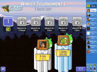 Зимний турнир: выбор уровня