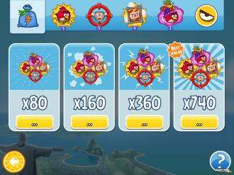 Angry Birds Rio: Магазин