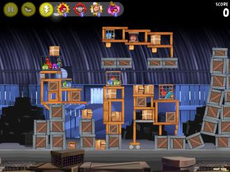 Angry Birds Rio: Уровень за перья 1