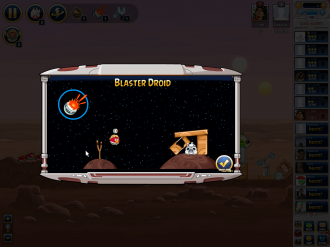 Angry Birds Star Wars Facebook: Blaster Droid