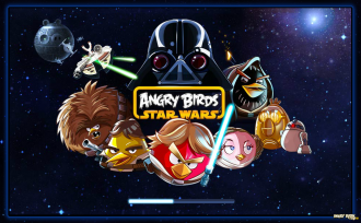 Angry Birds Star Wars Facebook: Экран загрузки