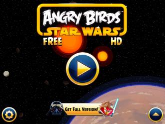 Angry Birds Star Wars Free: Меню