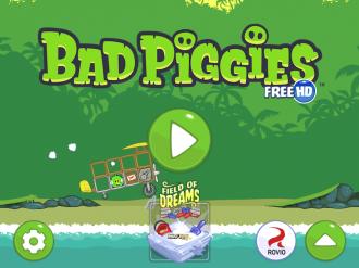Bad Piggies Free - Меню