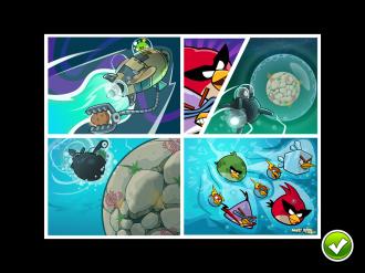 Angry Birds Space Pig Dipper - Комикс в начале