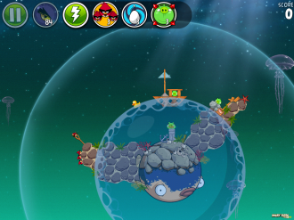 Angry Birds Space Pig Dipper - Уровень 6-2